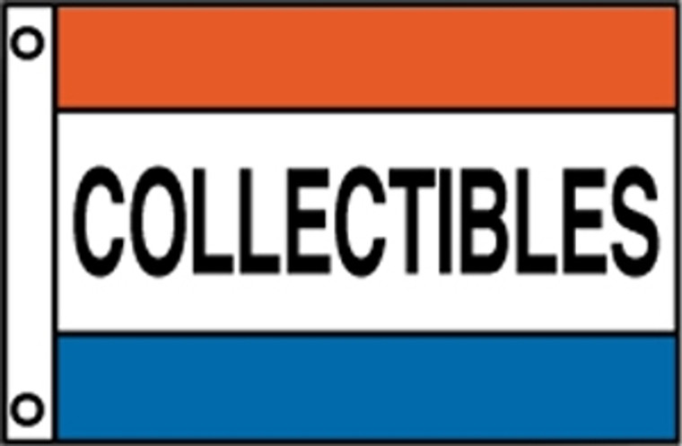COLLECTIBLES - Red/White/Blue Message Flag