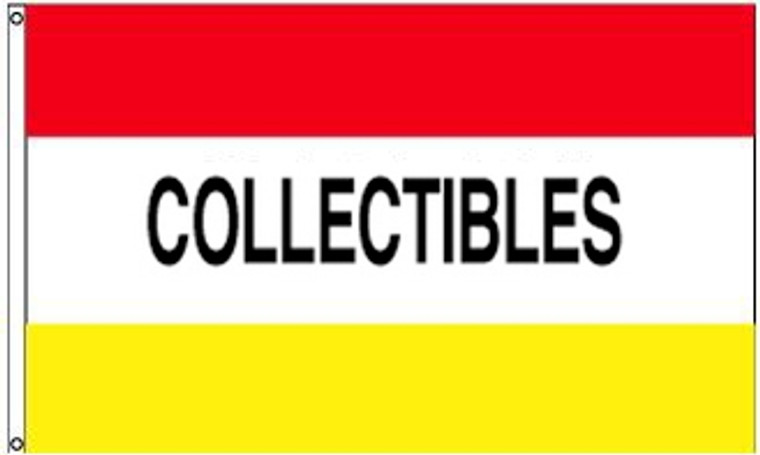 COLLECTIBLES - Red/White/Yellow Message Flag