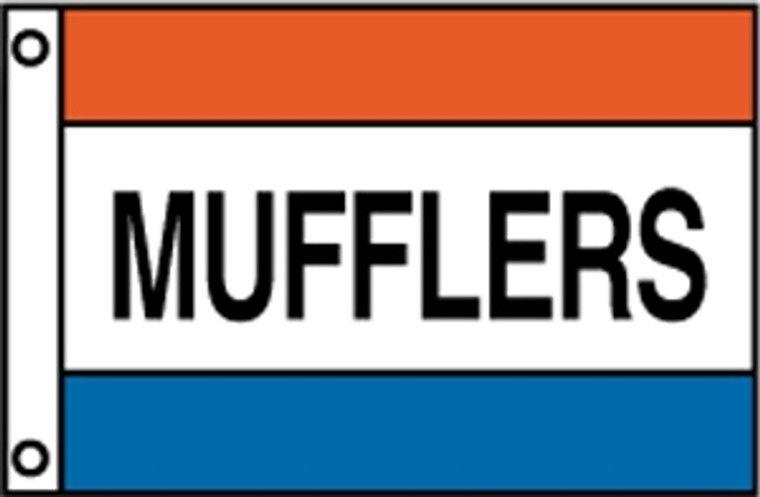 MUFFLERS - Red/White/Blue Message Flag