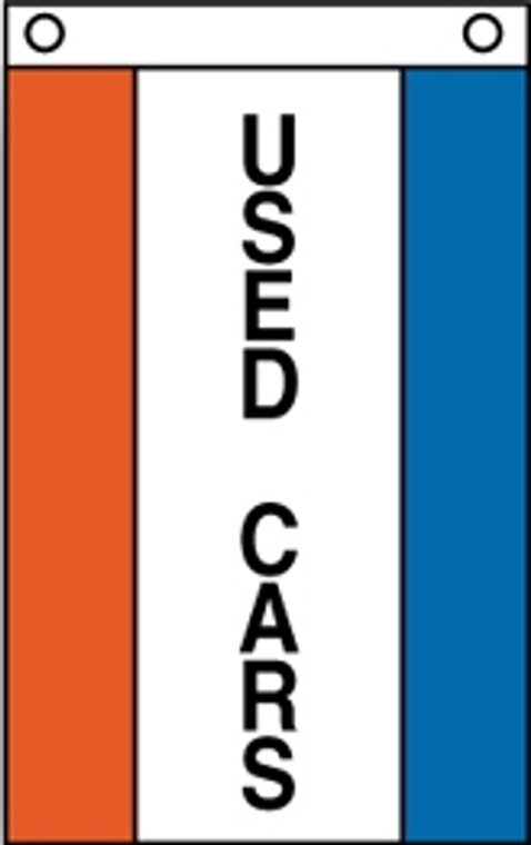 USED CARS - 3'x5' Red White & Blue Vertical Message Flag