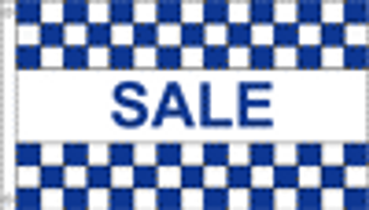 SALE - Blue & White Checkered Message Flag