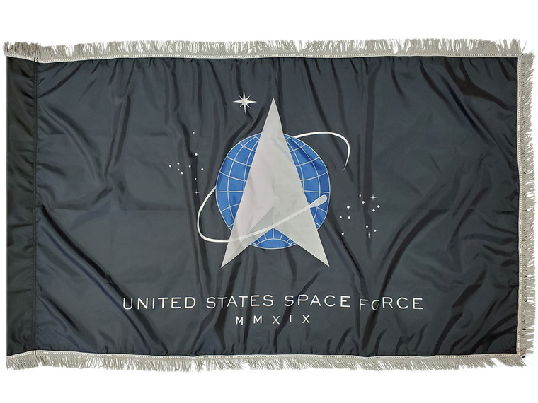 Space Force Indoor/Parade Flags with Pole Hem