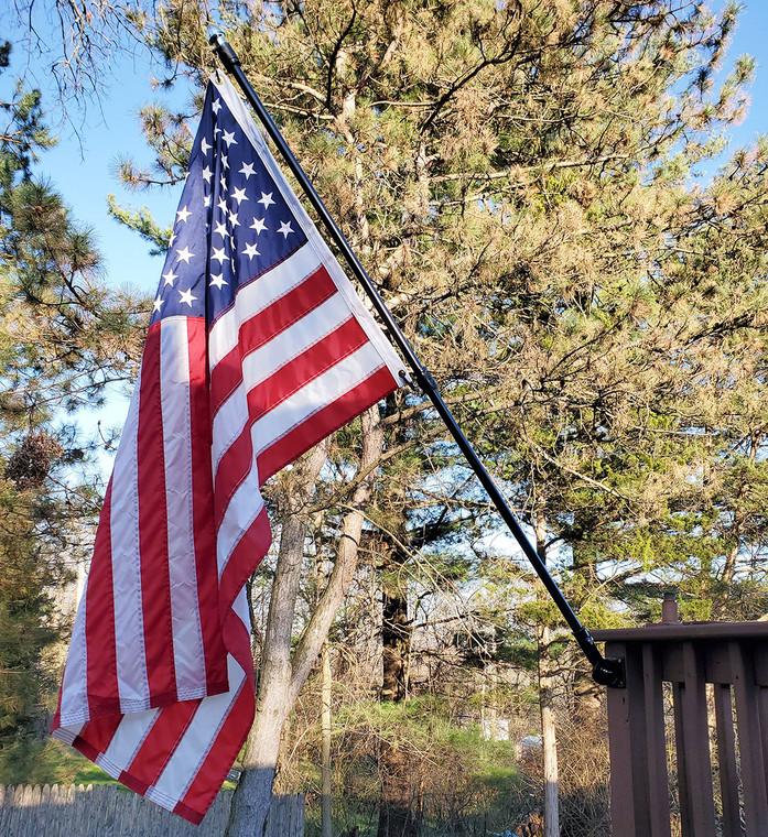 Veteran Honor Wall Mounted Flag Set w/ Fiberglass Pole