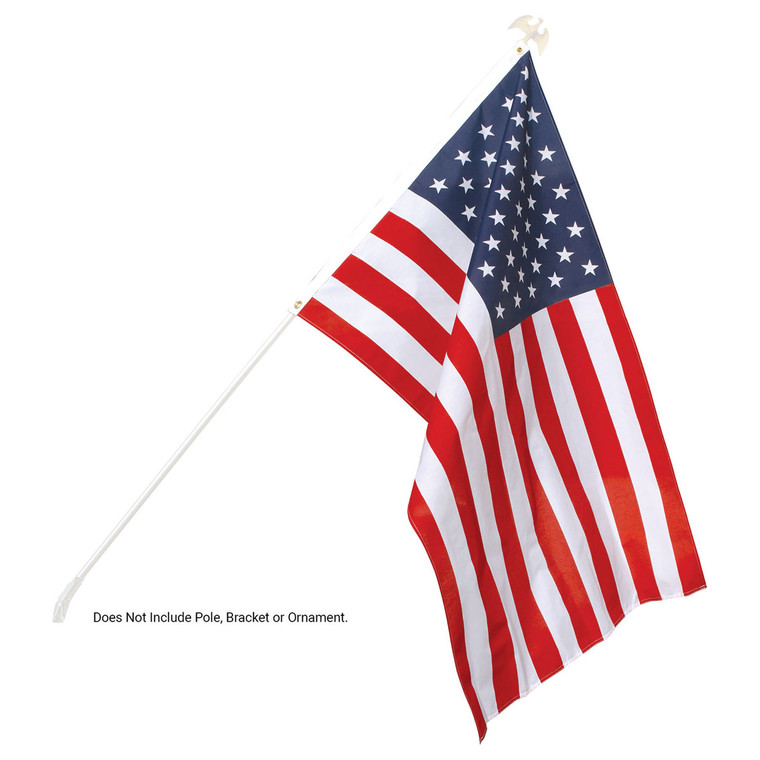 US Made - Printed Poly-Cotton American Flags
