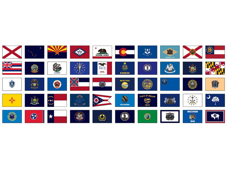 Complete 50 State Flag Set