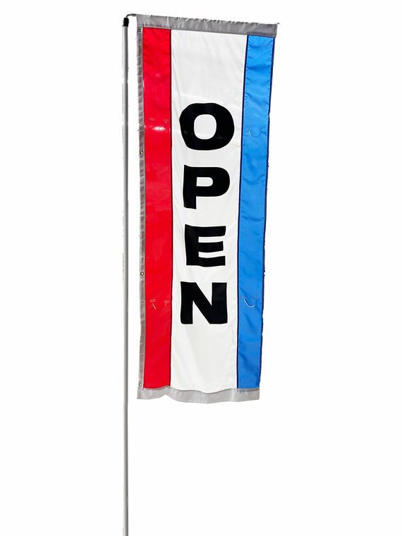 OPEN - Rotating Flag