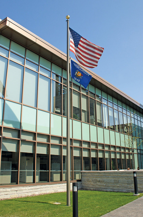 Bronze Finish External Halyard Flagpoles