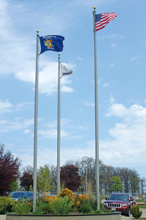 Satin Finish External Halyard Flagpoles