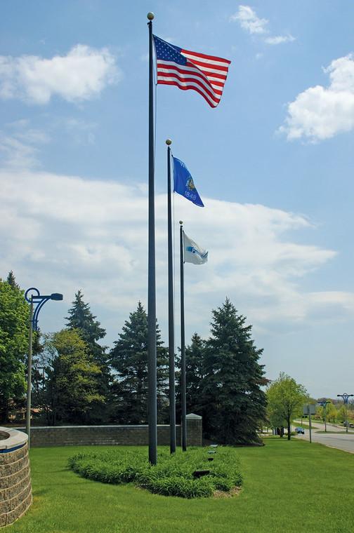 Black Finish External Halyard Flagpoles