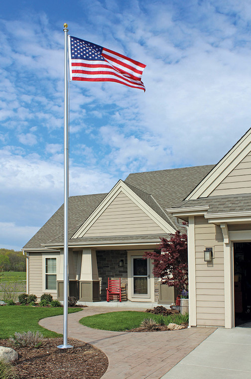 20' Sectional Special Budget Flagpole