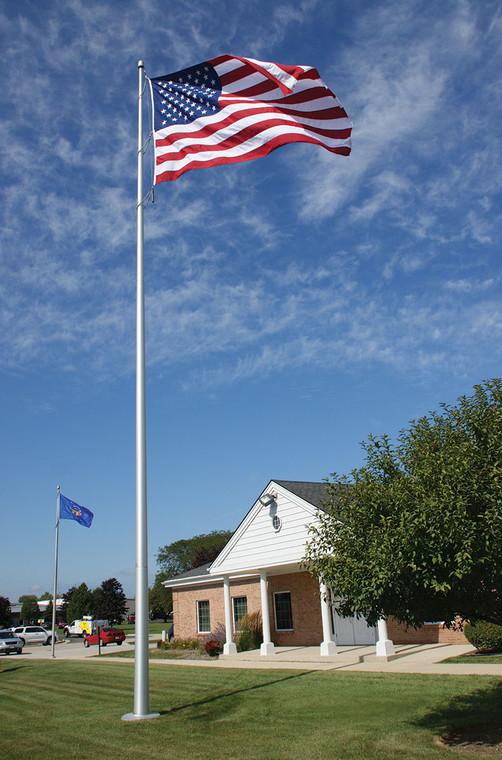 Satin Finish Internal Halyard Flagpole