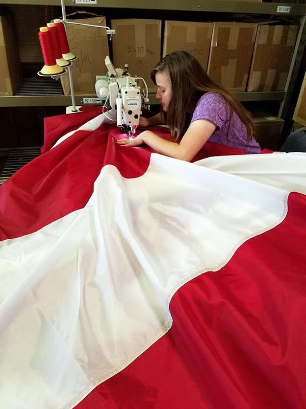 fast american flag repair