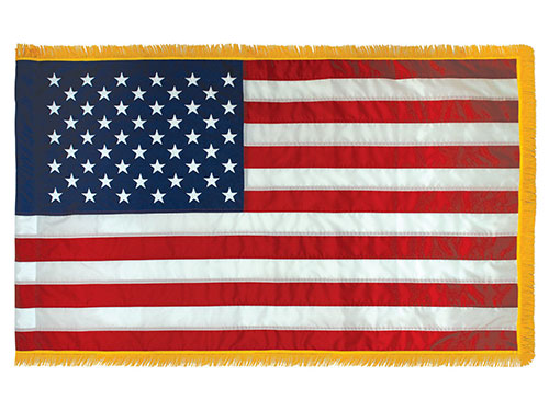 American Indoor/Parade Flags with Pole Hem