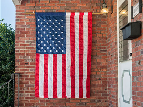 American Flags with Pole Sleeve for Outdoors
