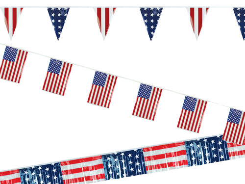 Patriotic American Pennant Streamers Strings