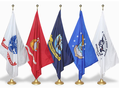 US Military Indoor Flag Sets