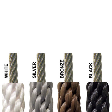 """5//16/"""" BRONZE WIRE CENTER FLAGPOLE ROPE Replacement halyard Polyester"""