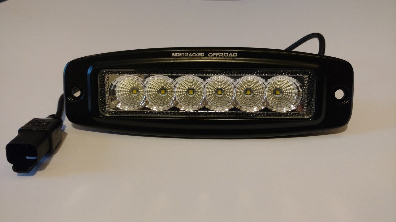 "Tracker 6"" Single Row Flush Mount Light Pod"
