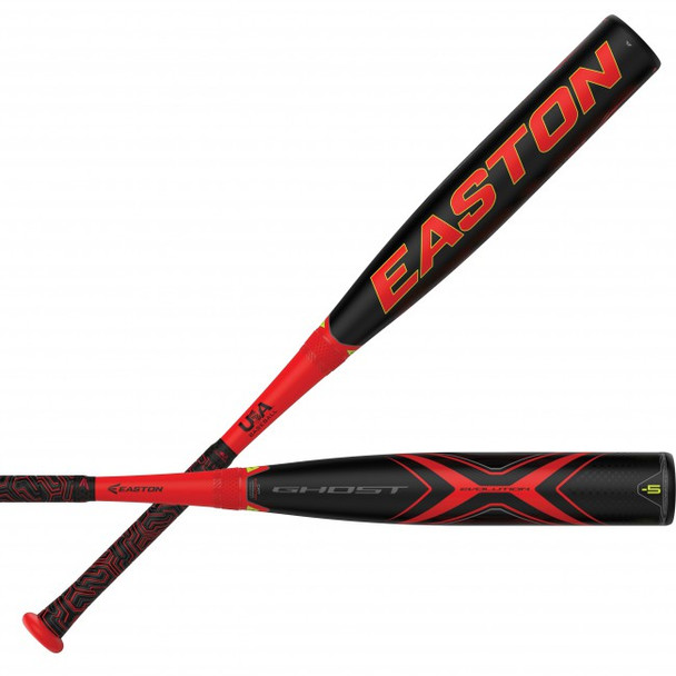"Easton 2019 USA Ghost X Evoultion -5 Baseball Bat (2 5/8"")   YBB19GXE5"