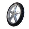 Spikes complete wheel K82 with 5 spokes rim and tube incl. silver