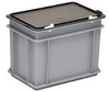 Rako plastic container 400x 300x 323 silver grey, incl. lid dark grey for DX