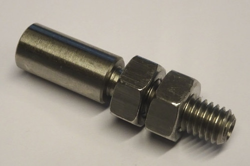 Adjusting screw stainless M6x 36L x 6.2 incl. nuts