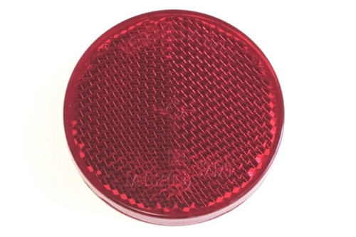 Reflector (round, red, autoadhesive)