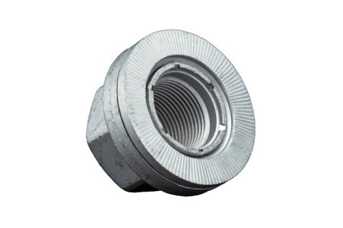 Wheel lock nut with locking washer integrated