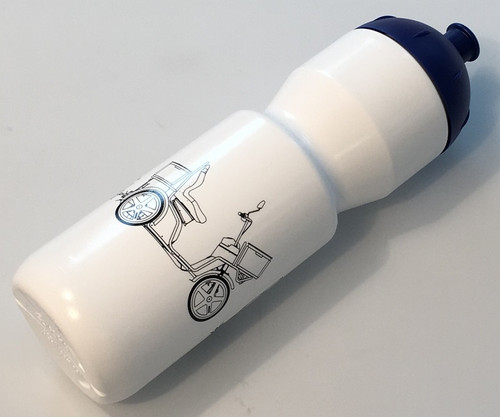 Drinking bottle 750ml, white including DXP picture