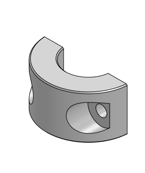 Pipe clamp outside