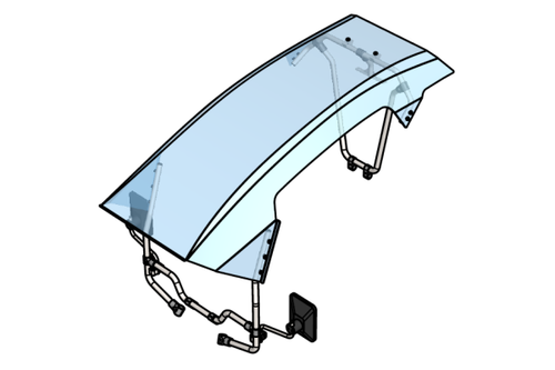 Roof with fastenings