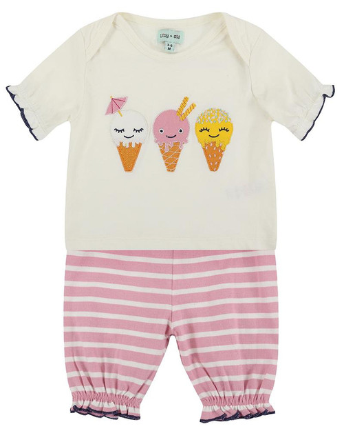 Lilly & Sid Ice Cream Top & Shorts Set