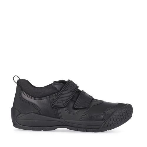 StartriteStrike(F) Black Leather Shoe