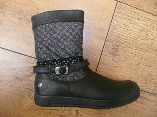 GBB Rolande Black Buckle Strap Boots