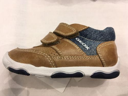 Geox B Balu Boy Caramel & Navy Shoe