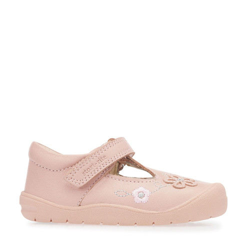 StartRite First Mia (G) Pink Leather Rip Tape Shoe