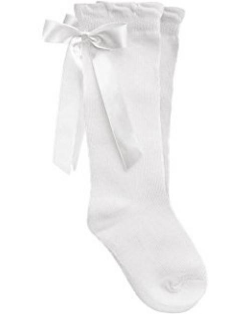 Pex Ribbon Knee High Socks WHITE