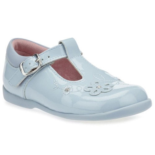 Startrite Sunflower Blue Patent (G) T-Bar Buckle Shoes