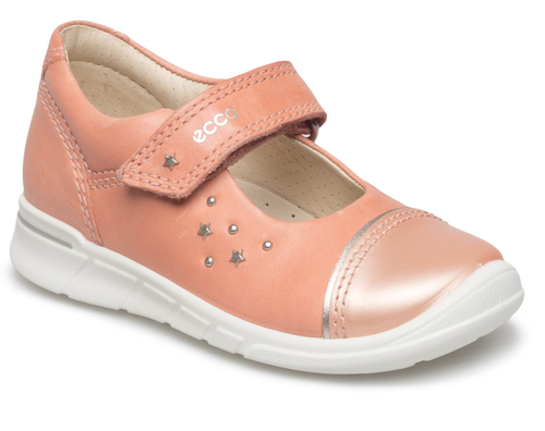 Ecco First Muted Clay Pink Pearlised Toe Shoe
