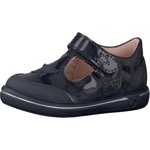 Ricosta Pepino Mandy Navy Patent Star T-Bar Scuff Toe Shoe