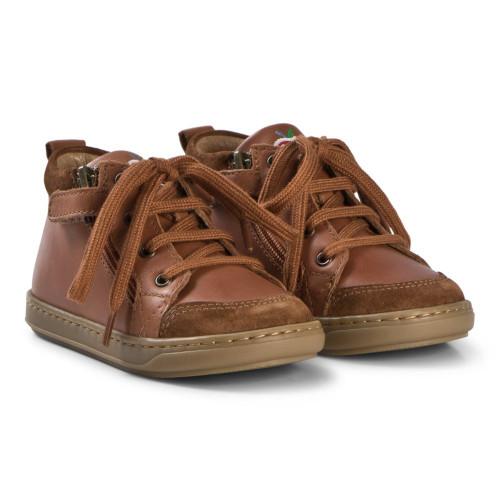 Shoopom Bouba Bi Zip Cognac Leather Lace & Zip Boot