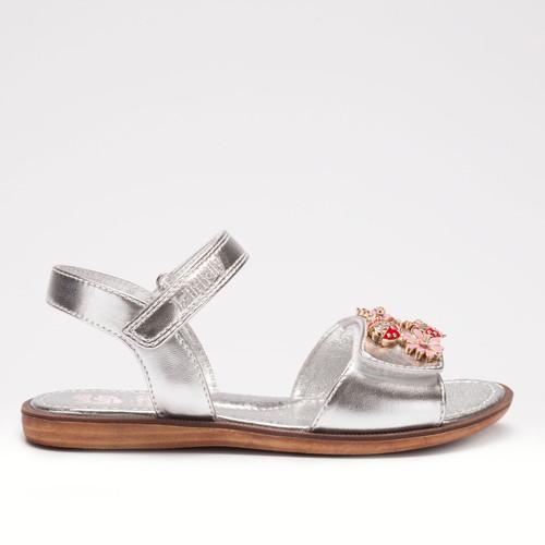 Lelli Kelly Matilde Silver Metallic Ladybird Detail Sandal