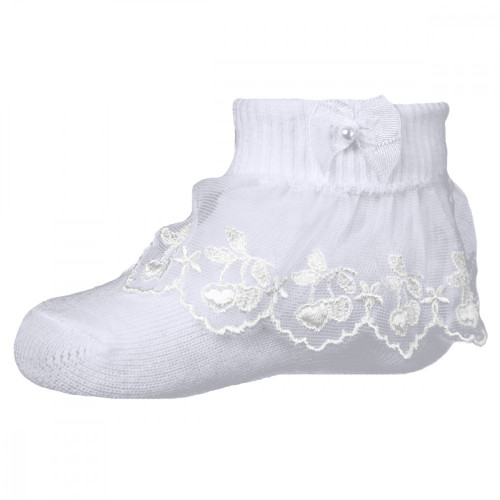 Pex White Cherry Lace Single Pack Ankle Socks