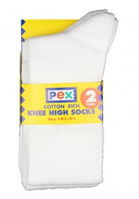 Pex Graduate 2pp Knee High Socks WHITE