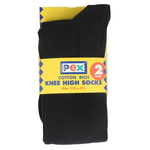 Pex Graduate 2pp Knee High Socks BLACK