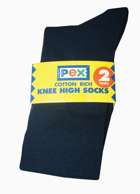 Pex Graduate 2pp Knee High Socks NAVY