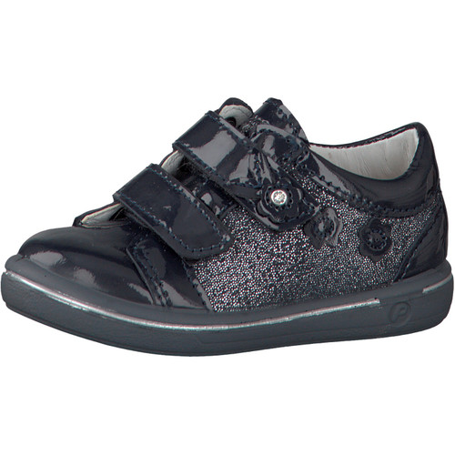 Ricosta Niddy Navy Patent Double Rip Tape Shoe