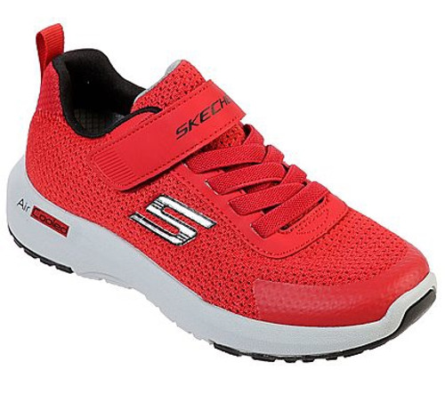 Skechers Dynamic Tread Red & Black Rip Tape Trainers