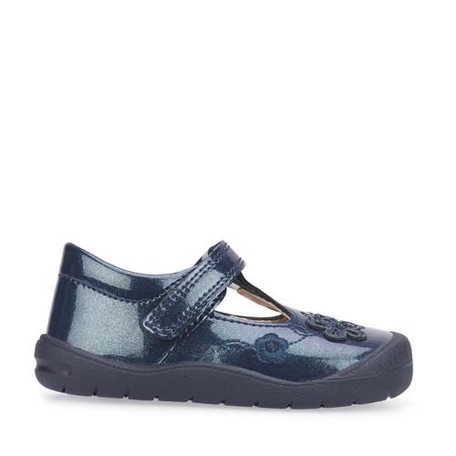 Startrite First Mia (F) Navy Glitter Patent First Walking Shoe