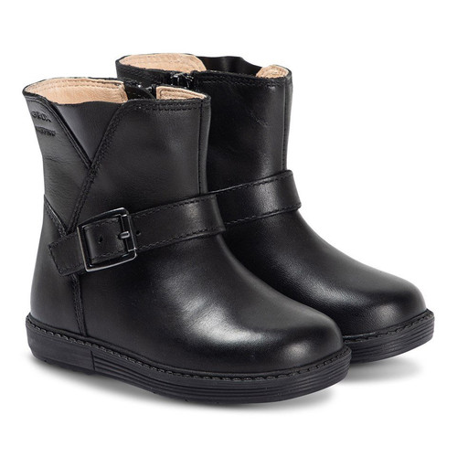 Geox Hynde Black Leather Short Boot